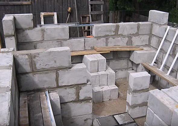 Строим из пеноблоков своими руками поэтапный показ строительства 5