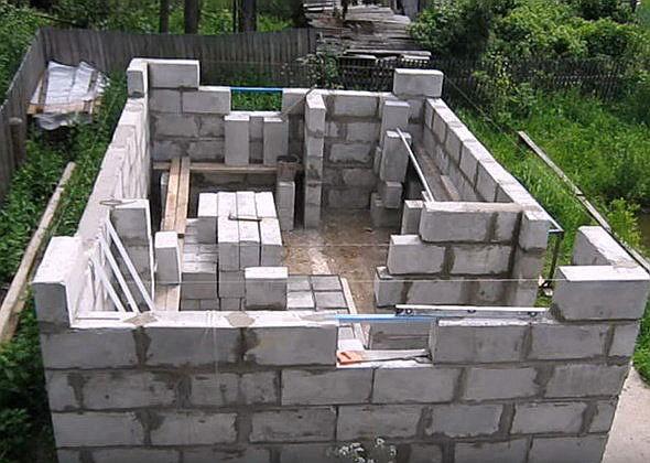 Построить дом недорого своими руками из пеноблока видео