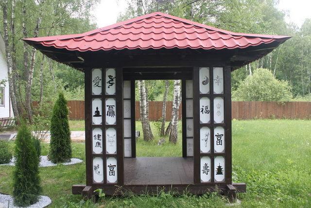 Беседка в китайском стиле: фото, чертежи, видео