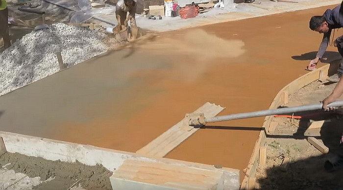 Как сделать цветной бетон своими руками 17
