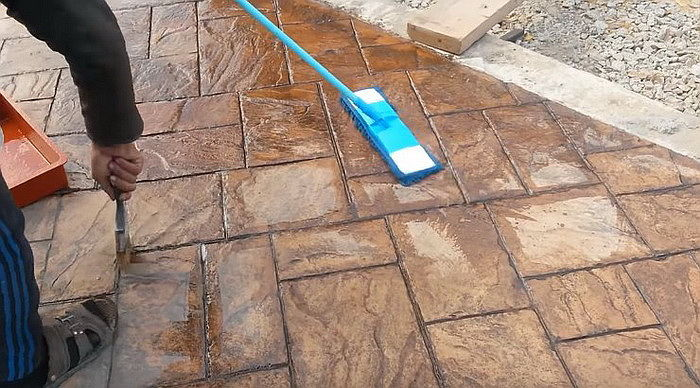 Как сделать цветной бетон своими руками 56