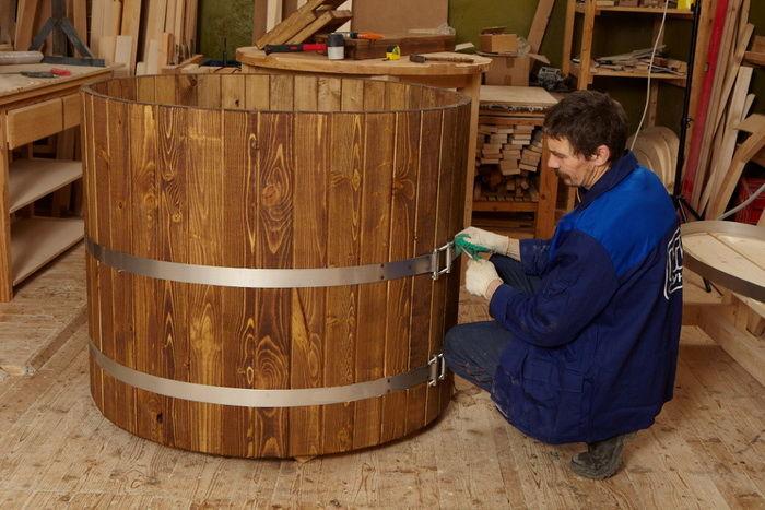 Купель деревянная для бани своими руками