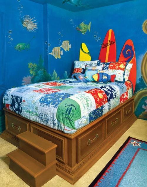 комната в морском стиле: 15 фото