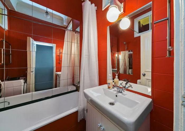 Маленькая ванная комната дизайн в квартире 35 кв метров