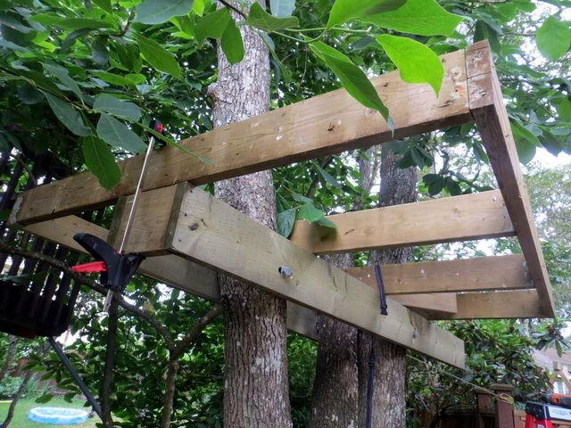 Сделать домик для детей на дереве своими руками