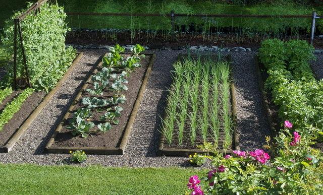 Украшение на дом в саду