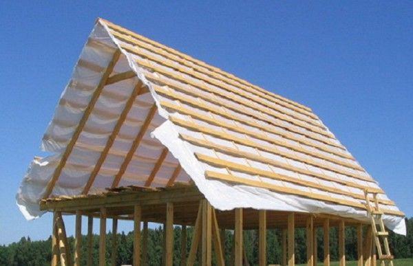 Крыша двухскатная своими руками фото