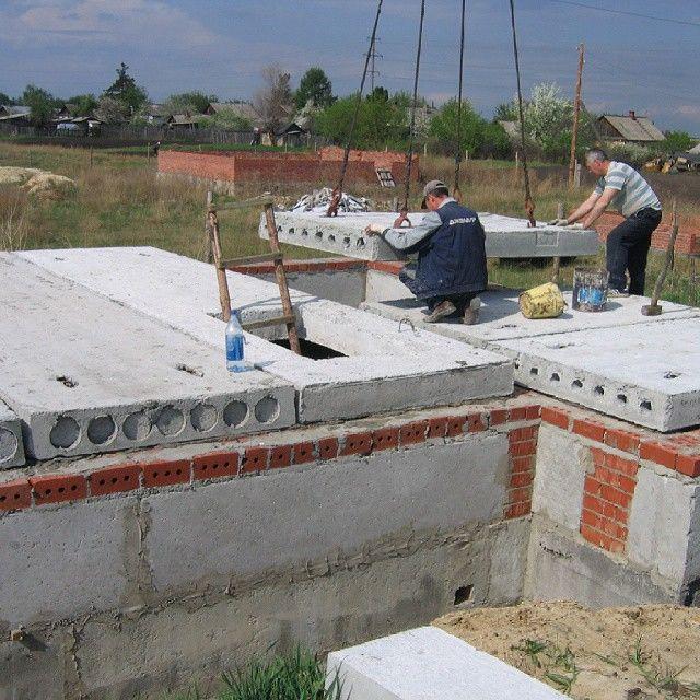 Фундамент своими руками фото из блоков