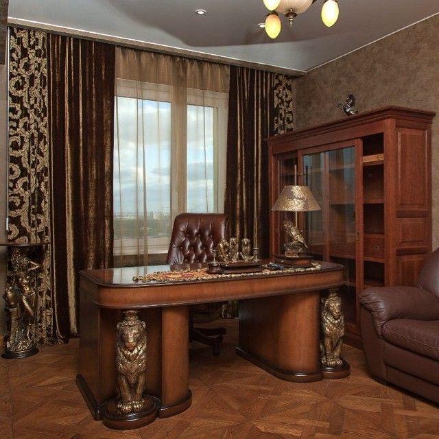Интерьер рабочего кабинета в квартире фото