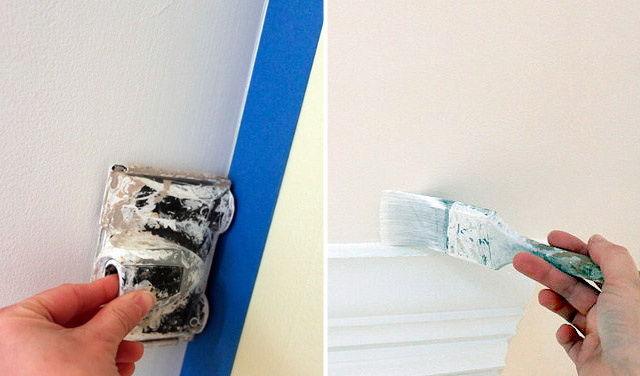 Покраска потолка снежкой