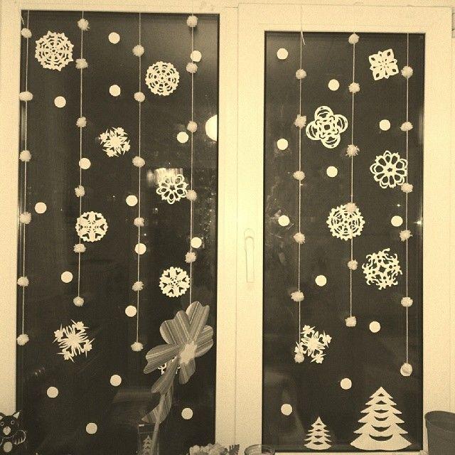 Новогоднее украшение на потолок своими руками