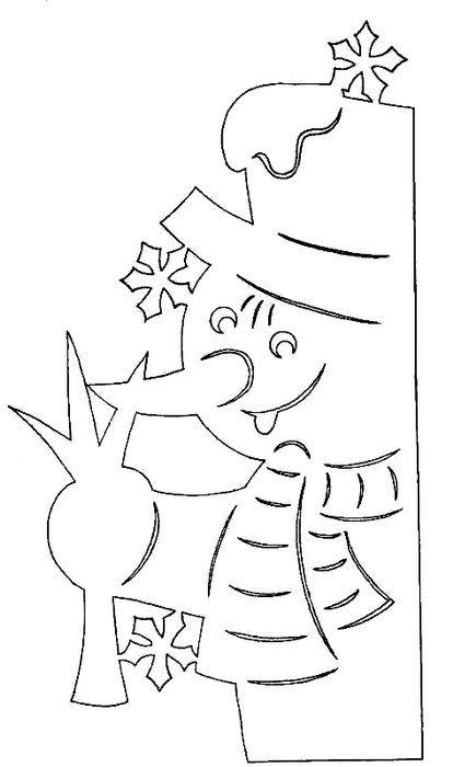 Трафареты на окна к новому году из бумаги для вырезания