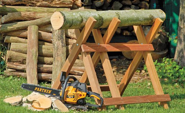 Козёл для распилки дров своими руками видео