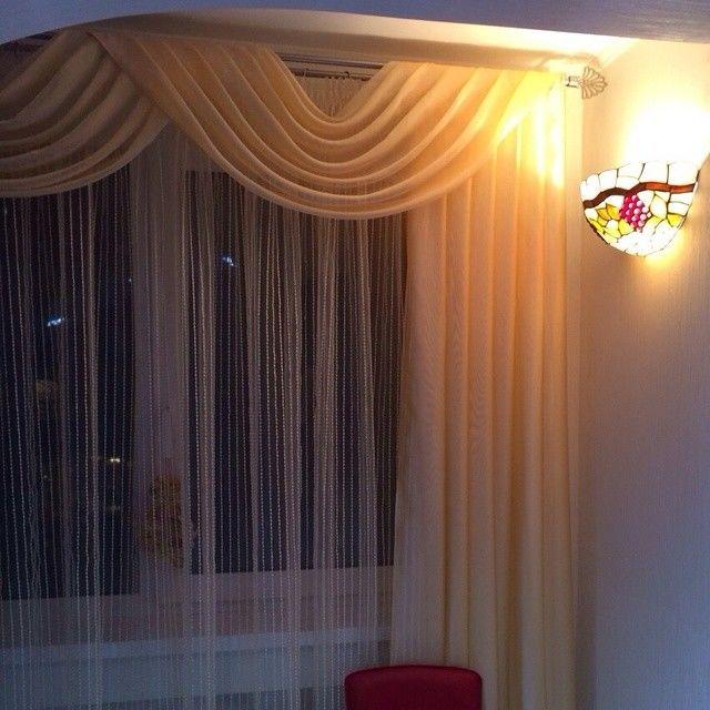 Шторы ламбрекены  для спальни