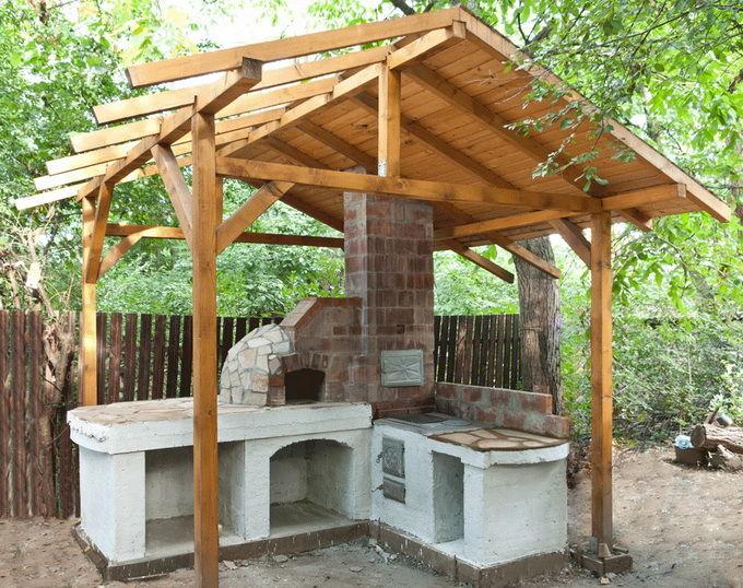 Строительство летней кухни своими руками