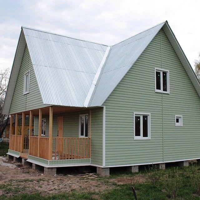 Фото обшивка сайдингом деревянного дома своими руками