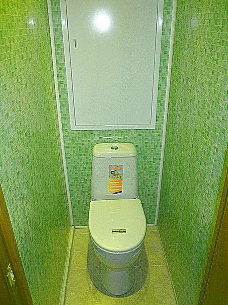 Туалет пластиковыми панелями своими руками фото