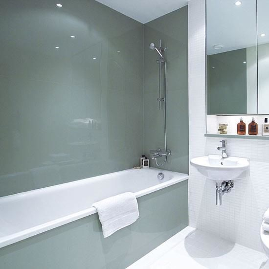 Glass panels for bathrooms