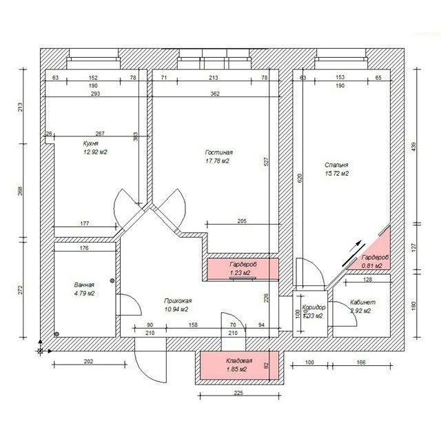 Дизайн хрущевки 2х комнатной фото