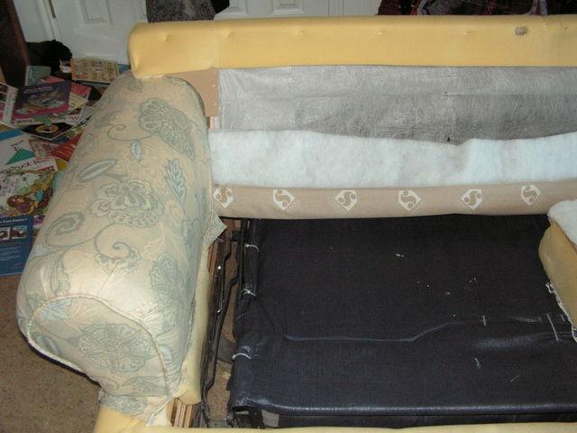 Перетянуть диван пошаговая инструкция