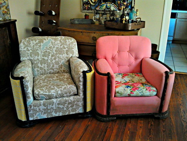 Обтяжка старого кресла своими руками 94