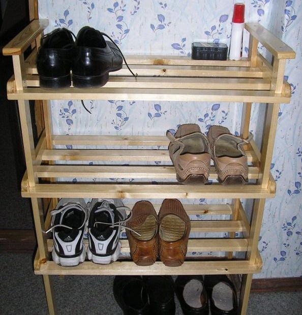 Как своими руками сделать обувную полку