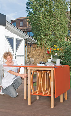 Схема сборки раскладного стола