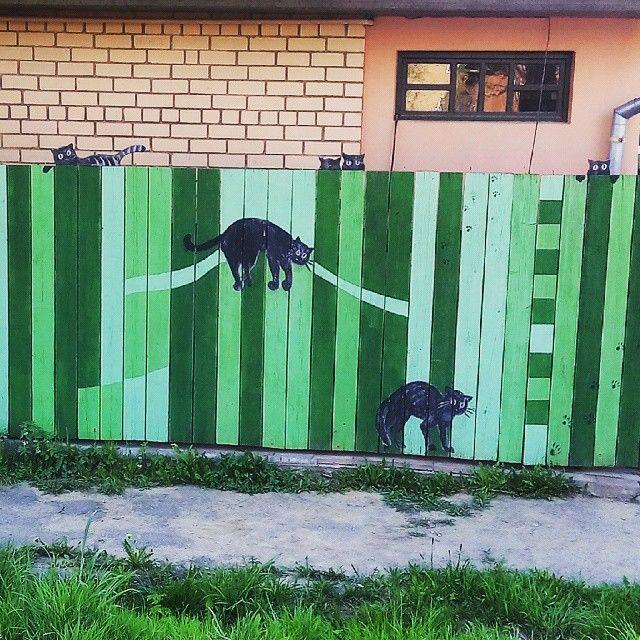 Как нарисовать на заборе рисунок своими руками 743