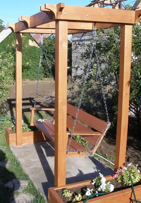 Как сделать качели в огороде