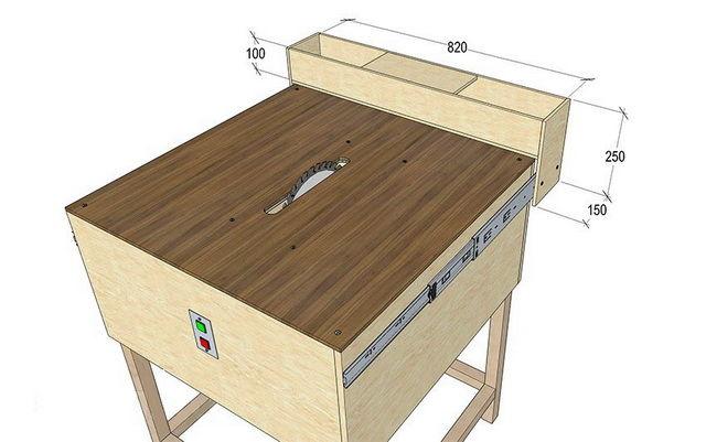 Чертеж стол для циркулярной пилы своими руками 60