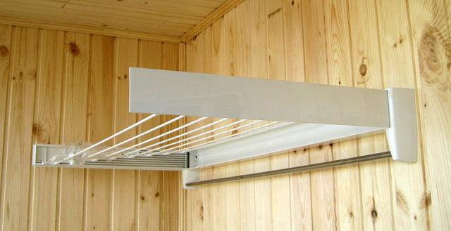 Потолочная сушилка для белья на балкон своими руками 72