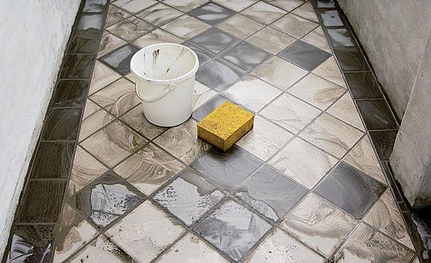Образец укладки плитки на лоджии.